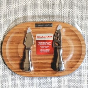NEW Kitchen Aid Cheese Knives and Board Set